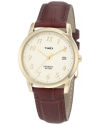 Men's Easy Reader Brown Leather Strap Watch