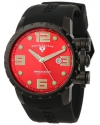 Men's Ambassador Red Dial Black Silicone Watch
