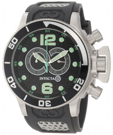 Invicta Men's 6916 Corduba Collection Interceptor Chronograph Grey Polyurethane Watch