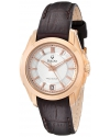 Women's Precisionist Longwood Rose-Tone Brown Leather Watch