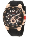 Men's Aviator Chronograph Black/Black Silicone Watch