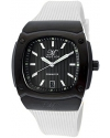 Men's Dominator Black Textured Dial White Silicone