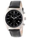 Men's Eiger Chronograph Black Dial Black Leather Watch