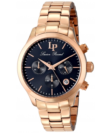 Lucien Piccard Women's LP-12914-RG-11 Coimbra Analog Display Japanese Quartz Rose Gold Watch
