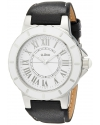 Women's Marina White Dial Black Leather Watch