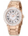 Women's Marina White Dial Rose Gold Ion-Plated Stainless Steel Watch