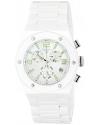 Women's Throttle Analog Display Swiss Quartz White Watch