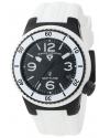 Women's Neptune Black Dial White Silicone Watch