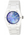 Women's Throttle Analog Display Swiss Quartz White Watch