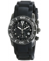 Women's Commander Diamonds Analog Display Swiss Quartz Black Watch