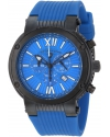 Swiss Legend Men's 10006-BB-03 Legato Cirque Chronograph Blue Textured Dial Blue Silicone Watch