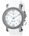 Men's Cyclone White Dial Silicone Watch
