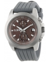 a_line Women's 80010-014-GY Aroha Chronograph Silver Grey Dial Grey Silicone Watch