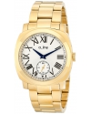Men's Pyar Gold Ion-Plated Stainless Steel Bracelet Watch