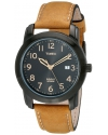 Men's Elevated Classics Watch with Brown Leather Strap