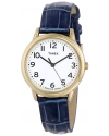 Women's Elevated Classics Gold-Tone Watch with Blue Leather Strap