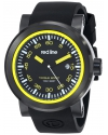 """Men's """"Torque"""" Stainless Steel Watch with Black Silicone Band"""
