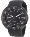 Men's Driver Black Dial Black Silicone Watch