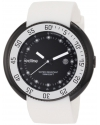 Men's Driver Black Dial White Silicone Watch
