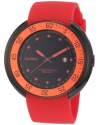 Men's Driver Black Dial Red Silicone Watch