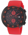 Men's Driver Chronograph Black Dial Red Silicone Watch