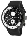 Men's Driver Chronograph Black Dial Black Silicone Watch