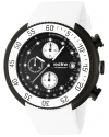 Men's Driver Chronograph Black Dial White Silicone Watch