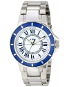 a_line Women's 80009-22-BU Marina White Textured Dial Stainless Steel Watch