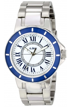 Women's Marina White Textured Dial Stainless Steel Watch