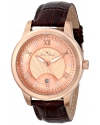 Lucien Piccard Men's LP-10046-RG-09 Pizzo Analog Display Swiss Quartz Brown Watch