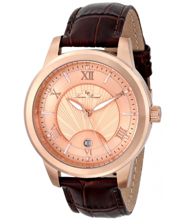 Men's Pizzo Analog Display Swiss Quartz Brown Watch
