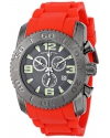 Men's Commander Analog Display Swiss Quartz Red Watch