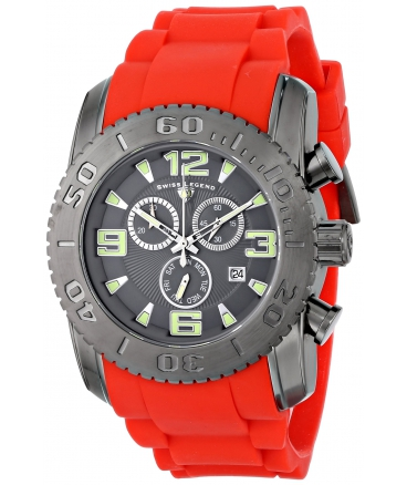 Men's Commander Analog Display Swiss Quartz Red Watch