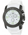 Men's Commander Analog Display Swiss Quartz White Watch