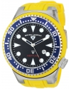Swiss Legend Men's 21818D-03 Neptune Collection Stainless Steel Yellow Rubber Watch