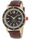Men's Meter Automatic Black Dial Brown Leather Watch