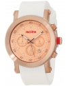 Men's Compressor Chronograph Rose Dial White Silicone Watch