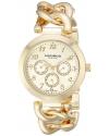 Women's Ultimate Multi-Function Gold-Tone Twist Chain Link Bracelet Watch