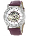 Akribos XXIV Women's AKR475PU Bravura Collection Skeleton Automatic Watch