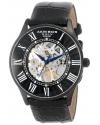 Men's Bravura Slim Mechanical Leather Strap Watch