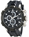 Men's I-Force Analog Display Japanese Quartz Black Watch