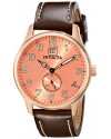 Men's I-Force Analog Display Japanese Quartz Brown Watch