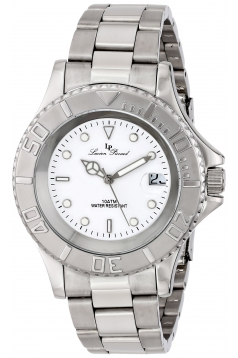 Lucien Piccard Men's LP-12668-22 Walen Analog Display Swiss Quartz Silver Watch