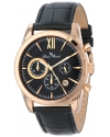 Men's Mulhacen Chronograph Black Textured Dial Black Leather Watch