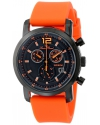 Men's Toules Analog Display Swiss Quartz Orange Watch