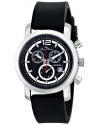 Men's Toules Analog Display Swiss Quartz Black Watch