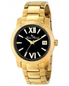Men's Bordeaux Analog Display Japanese Quartz Gold Watch