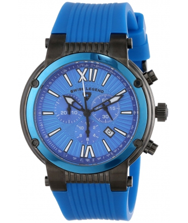 Swiss Legend Men's SL-10006-BB-03-BLB Legato Cirque Analog Display Swiss Quartz Blue Watch