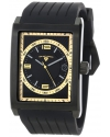 Men's Limousine Black Textured Dial Black Silicone Watch