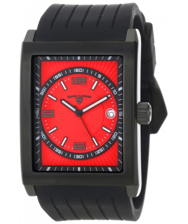 Swiss Legend Men's 40012-BB-05 Limousine Red Textured Dial Black Silicone Watch
